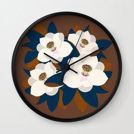 magnolia-brown Wall Clock
