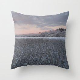 Frozen Sedge Throw Pillow