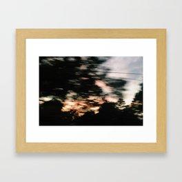 Traveling Sunset Framed Art Print