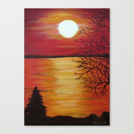 Another Beach Sunset Canvas Print