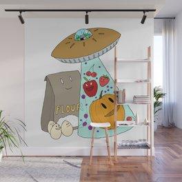 Pie UFO Wall Mural