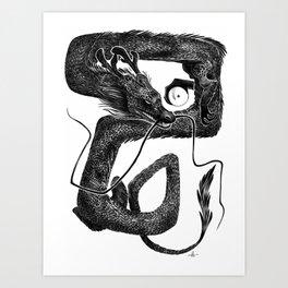 Dragon B Art Print