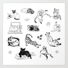 Cat Things Art Print