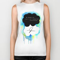 the fault Biker Tanks featuring The Fault in Our Stars by Awful Artist