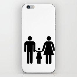 Washroom sign iPhone Skin