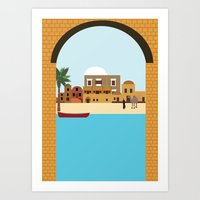 arab Art Prints featuring Arab city by Design4u Studio