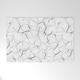 ginkgo leaves (white) Welcome Mat