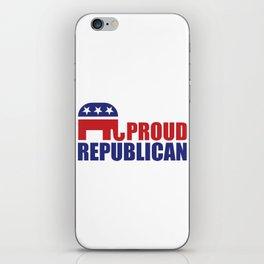 Proud Republican Elephant Design iPhone Skin