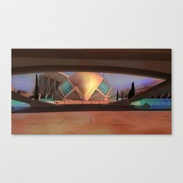 City of Arts and Sciences (Valencia-Spain) Canvas Print