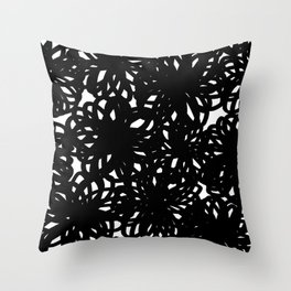 Bold Scribble Floral Throw Pillow