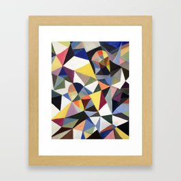 Broken Happiness of two windows Framed Art Print