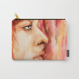 The Man Who Sold the World, Bowie portrait by Ines Zgonc Carry-All Pouch