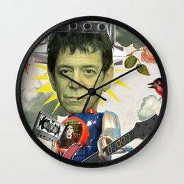 COLLAGE: Lou Metallico Wall Clock