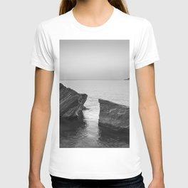 Serenity Sea. BW square. At Sunrise Morning T-shirt