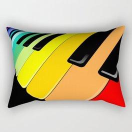 Piano Keyboard Rainbow Colors  Rectangular Pillow