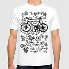I Want To Ride My Bike Mens Fitted Tee SMALL White