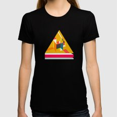 Triangle Black SMALL Womens Fitted Tee