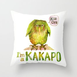 I'm a KAKAPO Throw Pillow