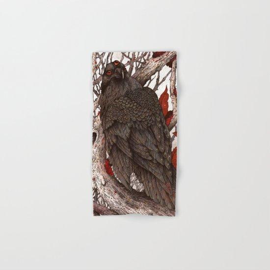A Raven In Winter Hand & Bath Towel
