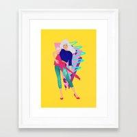 jem Framed Art Prints featuring Jem by Camila Fernandez