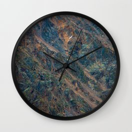 oxidized slope Wall Clock