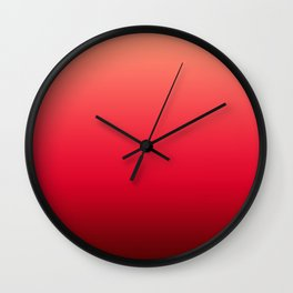 Ombre . Strawberries Wall Clock
