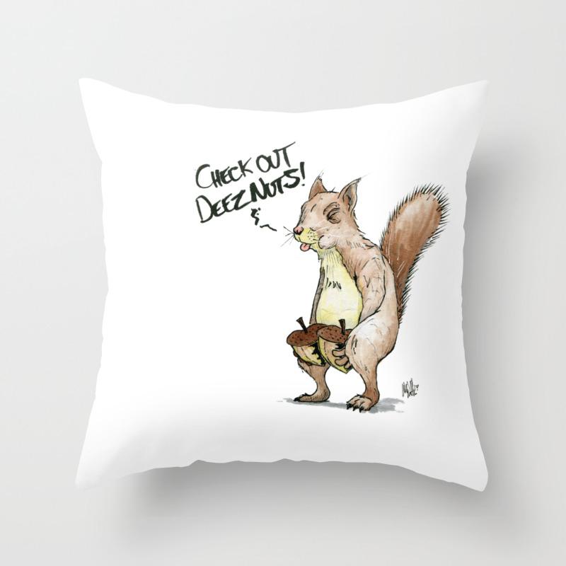 A Sassy Squirrel Throw Pillow By Chetbiggenston Society6
