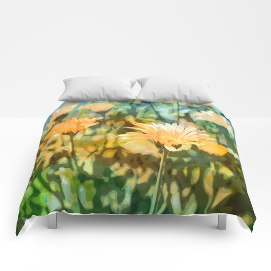Early Morning Flower Garden Comforters