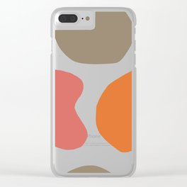 Artisan Abstraction Coral Terracota Hues Clear iPhone Case