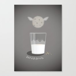 Gone with the milk Canvas Print