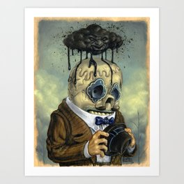 Bad Calavera Time Art Print