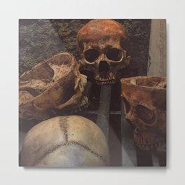 Catacomb Culture - Human Skull Basement Metal Print