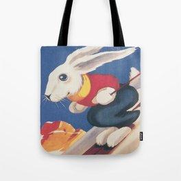 Dolomiti Ski Bunny Vintage Poster Tote Bag