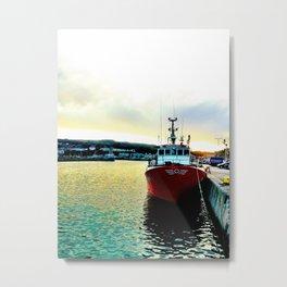 Fishermans Boat - Howth Harbour Metal Print