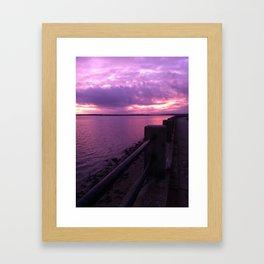 Sunset On the Battery Framed Art Print