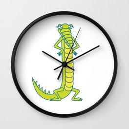 Uppercase J, no border Wall Clock