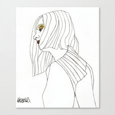 Yellow Eyeshadow Canvas Print
