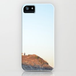 Sunset at Lighthouse in East Hampton iPhone Case