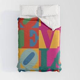Love Pop Art Duvet Cover