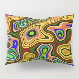 Color statement, abstract pattern Pillow Sham