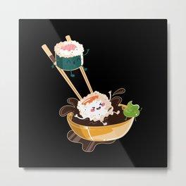 Sushi Anime I Japanese Food I Kawaii Sushi Metal Print