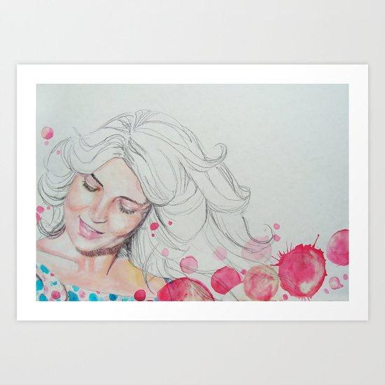 mama watercolor acuarela Art Print