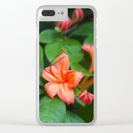 Floral Print 031 Clear iPhone Case