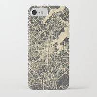 baltimore iPhone & iPod Cases featuring Baltimore map by Map Map Maps