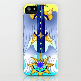 Fusion Keyblade Guitar #169 - Aubade & Oathkeeper iPhone Case