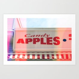 Candy Apples Boardwalk Sign Art Print