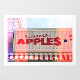 Candy Apples Boardwalk Sign Art Print