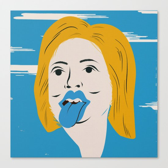 Rock N Roll Candidate / Hillary Clinton Canvas Print
