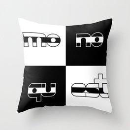 monoquest Throw Pillow