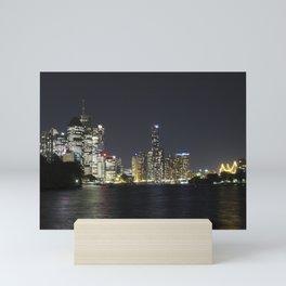 Brisbane by night Mini Art Print